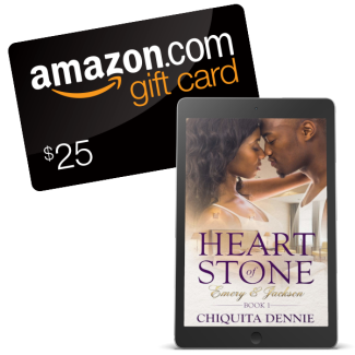 Giveaway Graphic - Heart of Stone by Chiquita Dennie